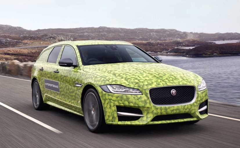 JLR Reveals Jaguar XF Sportbrake Camouflaged In Wimbledon Theme