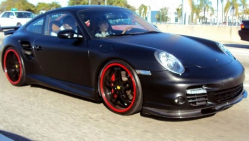 justin biebers customised porsche 997 turbo