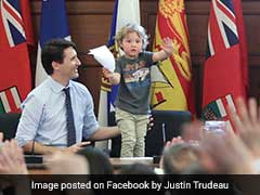 Justin Trudeau Takes 3-Year-Old Son To Work. Photos Are Oh-So-Cute