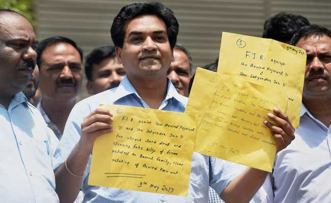 Ex-AAP Minister Kapil Mishra's 'Proof' Against Arvind Kejriwal In Envelopes: 10 Points