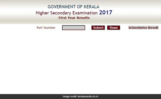 kerala plus one result 2017 declared