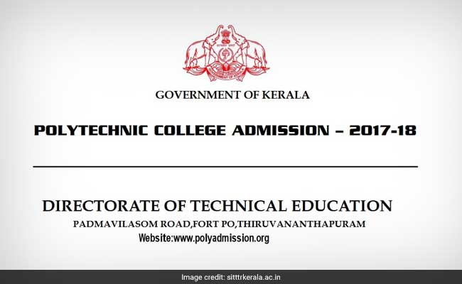 Kerala Polytechnic Admission 2017: Online Submission To Start Tomorrow