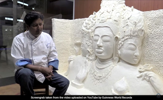 Watch: How An Indian Chef Made The World's Largest Margarine Sculpture