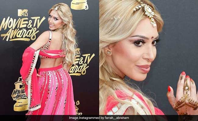 US Reality TV Star's Red Carpet Look: A Lehenga, Bindi And Mehendi