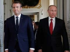 Emmanuel Macron In Russia For High-Stakes Talks With Vladimir Putin