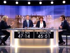 Marine Le Pen, Emmanuel Macron Clash In Fiery Final French Debate