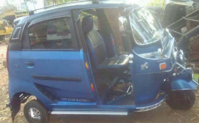 Kerala Based Auto Driver Modifies His Rickshaw To Resemble The Tata Nano