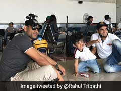 Dhoni Sits On Floor To Play With Tahir's Son. Fans Can't Stop Gushing