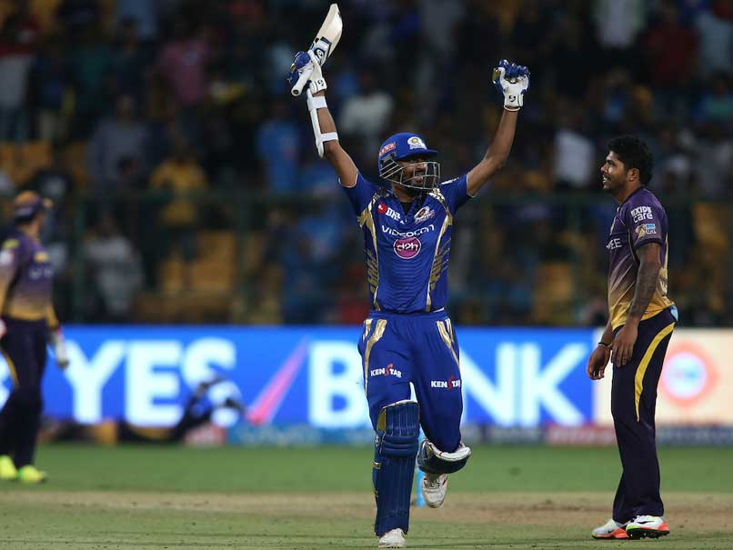 IPL 2017: Mumbai Indians Beat Kolkata Knight Riders By 6 Wickets