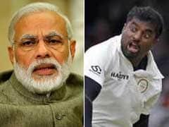 कुछ इस अंदाज में श्रीलंकाई क्रिकेटर मुथैया मुरलीधरन के मुरीद हुए प्रधानमंत्री मोदी