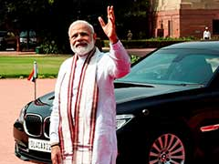 PM Modi Gets Gift Made Of Plastic Waste, Sees Big Business Potential