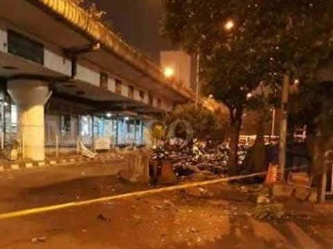 Two blasts at transport terminal in Indonesian capital Jakarta, casualties feared, reports AFP quoting police
