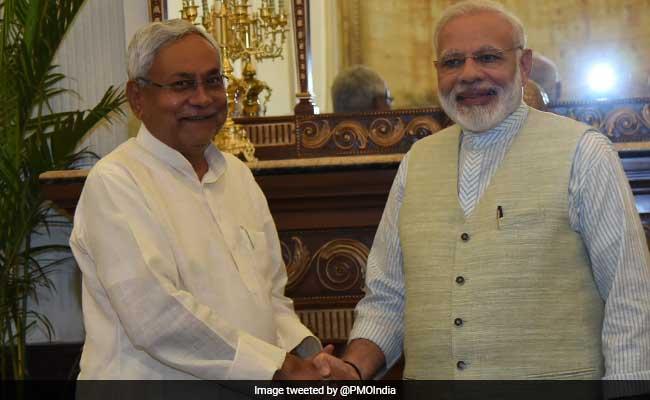 दिल्ली में पीएम नरेंद्र मोदी से मिले नीतीश कुमार, सोनिया गांधी के लंच में नहीं हुए थे शामिल