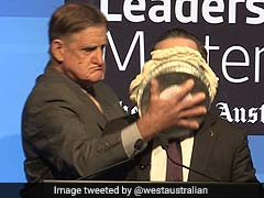 Qantas Airways CEO Hit With Pie In The Face, Laughs It Off Like A Boss