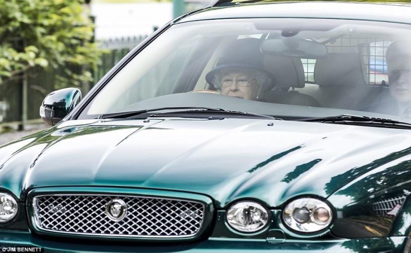 91 Year Old Queen Elizabeth Ii Drives A Jaguar Back Home
