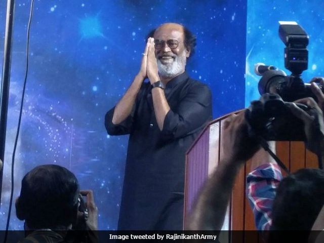 Pics From Rajinikanth's 'Fan Darshan' After 9 Years