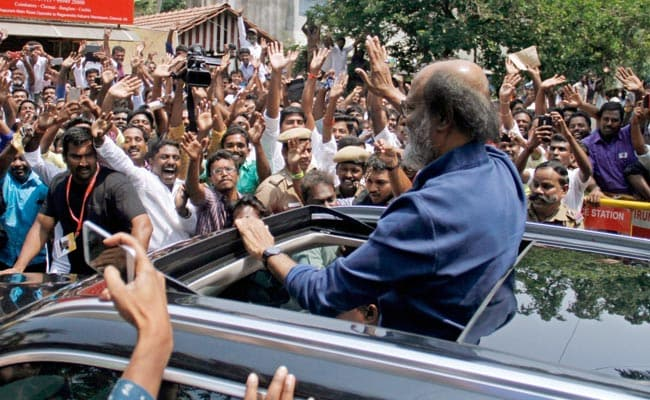 Tamil fringe group protests against 'Kannadiga' Rajnikanth's entry in politics