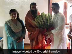 Ramdev Meets MNS Chief Raj Thackeray In Mumbai