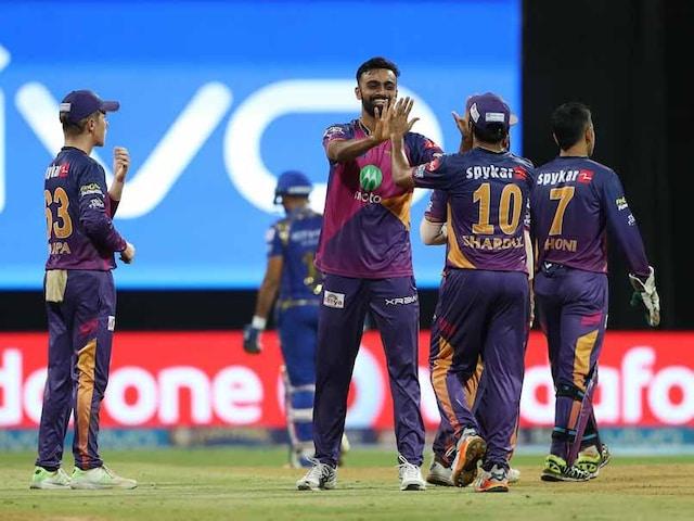 IPL 2017: Rising Pune Supergiant Slay Mumbai Indians To Enter Maiden Final