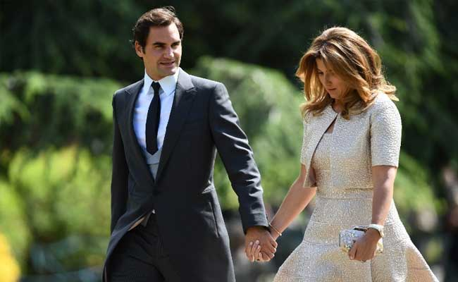 roger federer with wife afp
