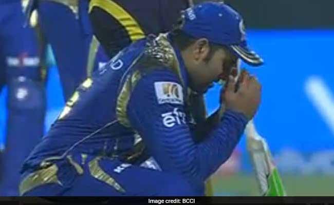 IPL10: अम्पायर की बड़ी चूक पर मुंबई इंडियंस के रोहित शर्मा और अन्य खिलाड़ियों ने इस अंदाज में जताई निराशा....