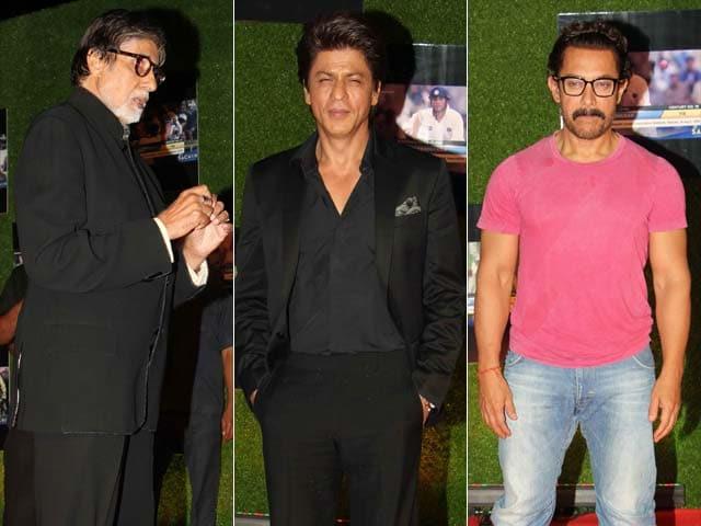 Amitabh Bachchan, Shah Rukh Khan, Aamir Khan Join Sachin Tendulkar For A Billion Dreams Premiere