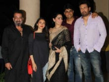 <i>Bhoomi</i> Done. Sanjay Dutt Celebrates With Maanyata And Co-Star Aditi Rao Hydari