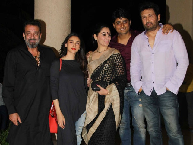 Bhoomi Done. Sanjay Dutt Celebrates With Maanyata And Co-Star Aditi Rao Hydari