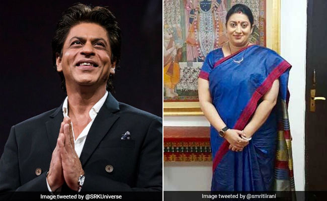 Shah Rukh Khan Posted This Pic Instagrammed By Smriti Irani. Here's Why