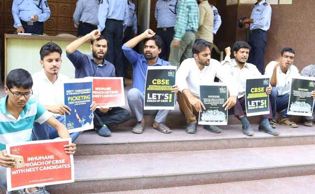 NEET Dress Code Row: Student Body Protests Outside CBSE