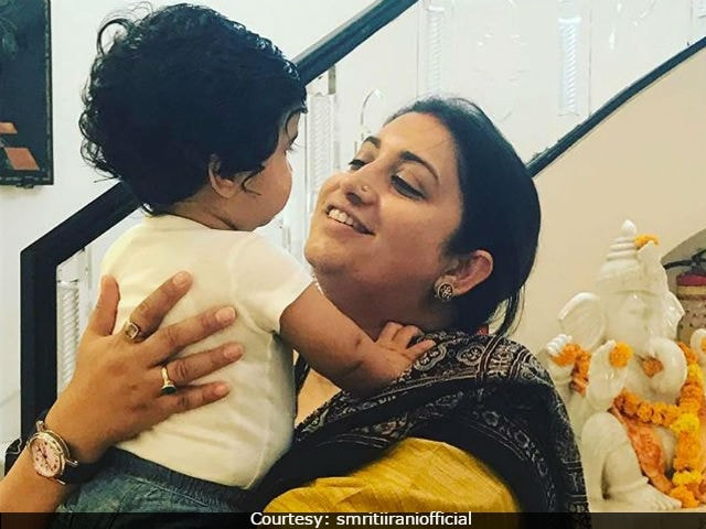 Smriti Irani Spends Time With Tusshar Kapoor's Son. Posts Pic