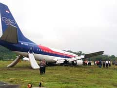 Indonesian Plane Overshoots Wet Runway, Passengers Evacuated On Camera