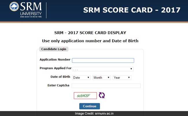 srm university score card