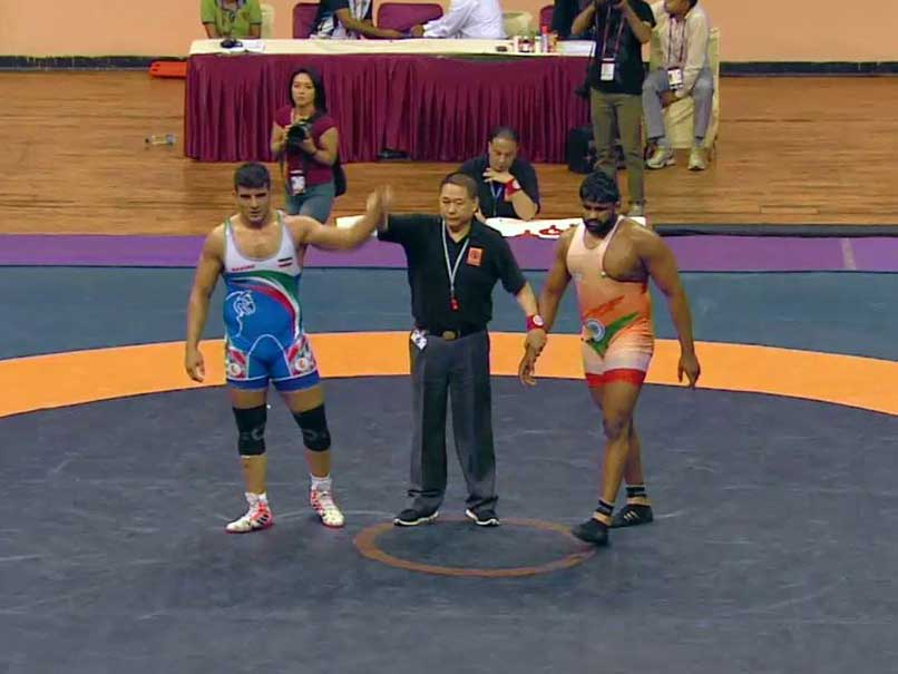 Wrestler Bajrang wins gold at Asian C'ships