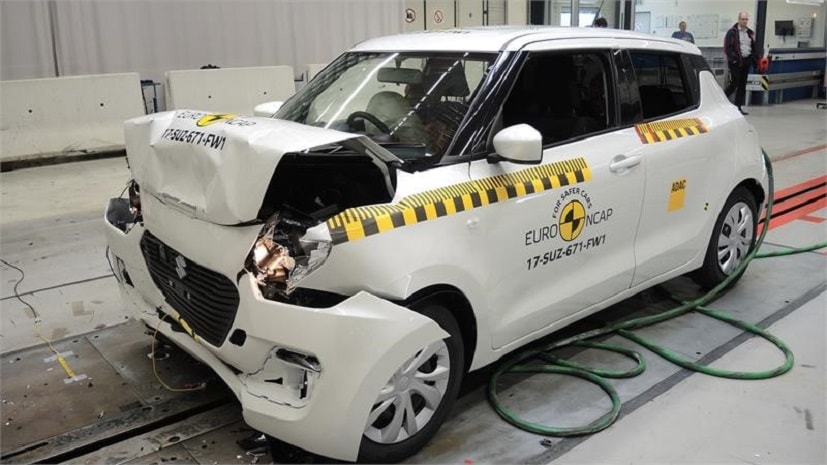 suzuki swift euro ncap crash test