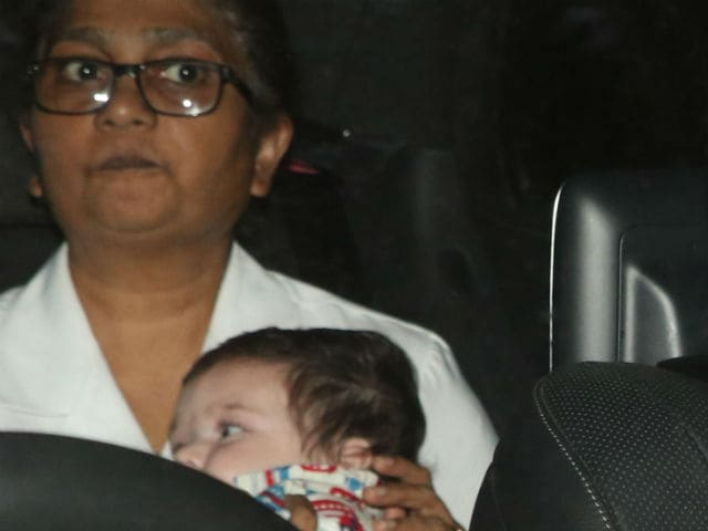 taimur ali khan photographed in mumbai
