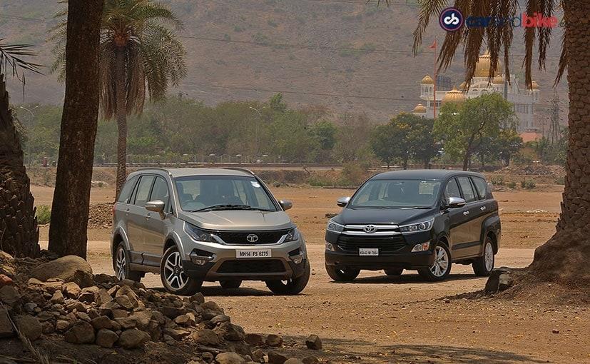 Comparison Review: Tata Hexa vs Toyota Innova