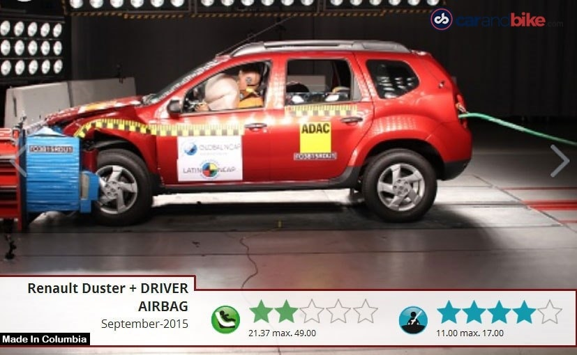 zero stars for made in india renault duster in latest global ncap crash tests ndtv carandbike. Black Bedroom Furniture Sets. Home Design Ideas