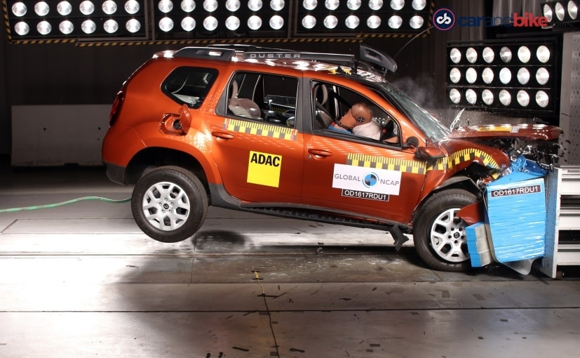 the renault duster with the driver side airbag