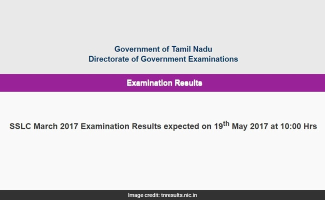 Tamil Nadu 10th Result 2017 Will Be Announced Today