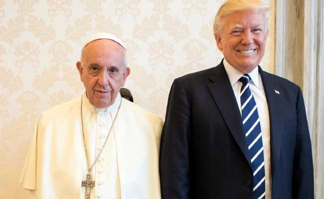 All Smiles As Pope Francis Asks US President Donald Trump To Work For Peace
