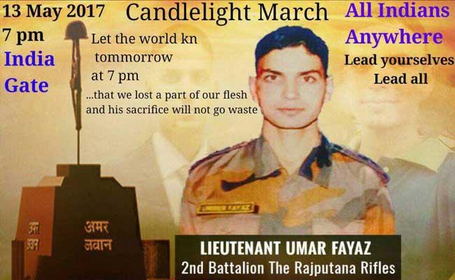 लेफ्टिनेंट उमर फैयाज को श्रद्धांजलि देने के लिए दिल्ली में आज जुटेंगे सेना से जुड़े लोग