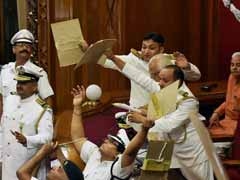 Paper Balls Thrown At Governor In First Session Of UP's New Assembly