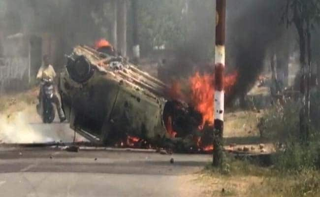 सहारनपुर : महापंचायत को लेकर कई इलाकों में हंगामा, वाहनों को किया आग के हवाले