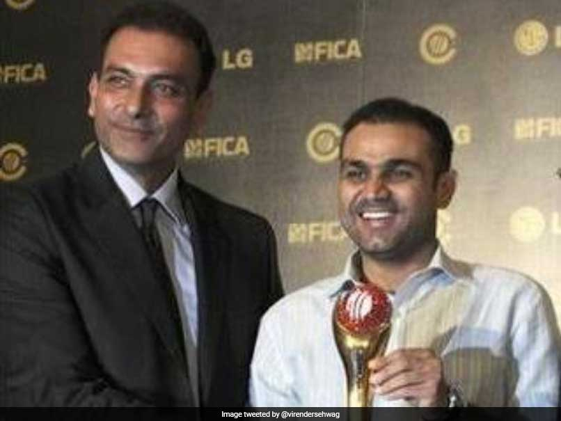 Virender Sehwag Gives Ravi Shastri A Taste Of His Own Medicine On Birthday