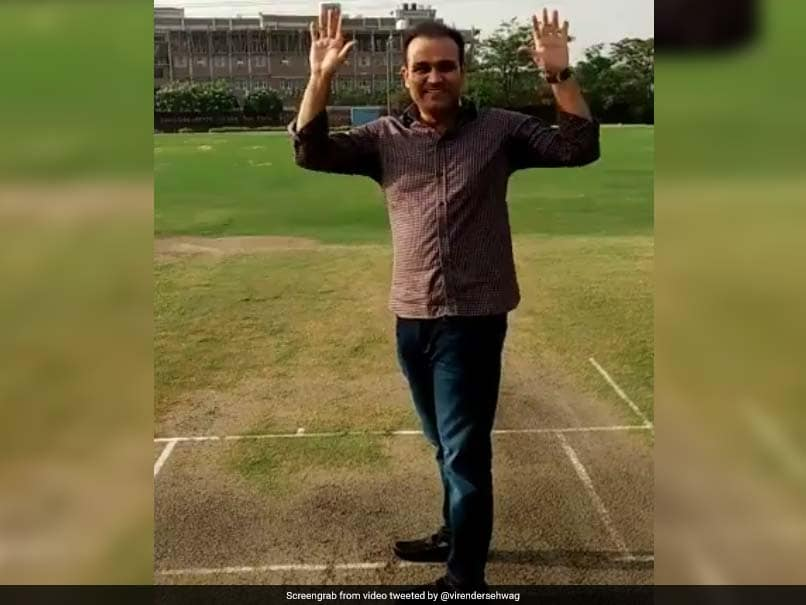 Virender Sehwag Celebrates Becoming 'Twitter Crorepati'