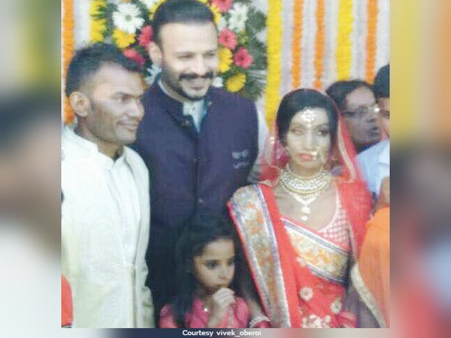 Vivek Oberoi Attends Acid Attack Survivor Lalita Bansi's Wedding