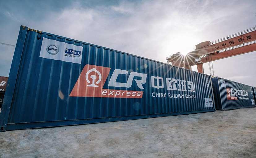 volvo s90 china europe freight train