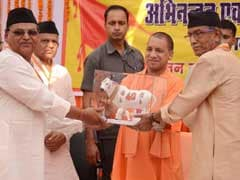 UP Chief Minister Yogi Adityanath Draws Flak For Sharing Stage With Murder-Accused MLA