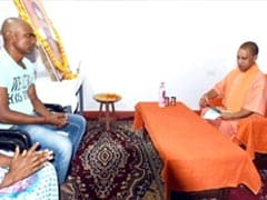 Yogi Adityanath Visits Martyr's Family. AC, Sofa Come And Go With Him